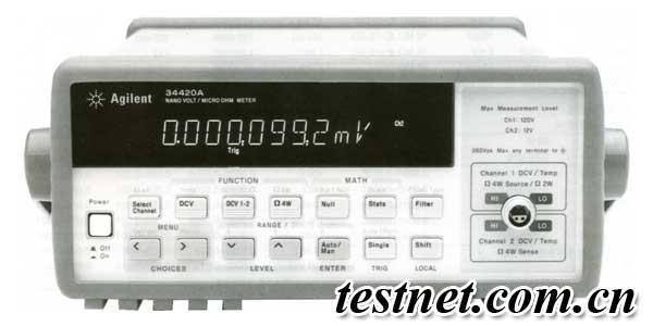两个输入通道可以独立进行电压测量,或者将它们作数学上组合,进行差分和比值测量。欧姆测量把低噪声输入电路和高稳定电流源结合起来,提供杰出的低电阻测量。偏置补偿用以消除杂散的热电动势(EMF)的影响,这种杂散电动势有可能造成测量误差。低功率欧姆和低压电阻测量能力允许在要求低压(20mV)的场合进行重复测量,以避免氧化击穿。仪器内部还有宽量程范围的温度测量能力,提供对SPRT、热电偶、RTD和热敏电阻湿度传感器的支持。